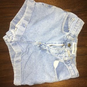 American apparel extreme High wasted shorts